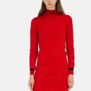 ICEBERG wool slim fit dress with neck logo